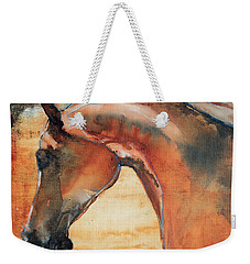 Weekender Tote Bag featuring the painting Sun Kissed Abrabian by Jani Freimann