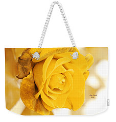 Weekender Tote Bag featuring the photograph Sun Kissed Rose by Athala Carole Bruckner