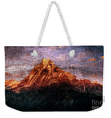Sun Kissing The Mountain Tops Weekender Tote Bag