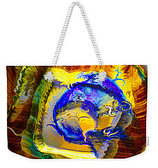 Weekender Tote Bag featuring the painting Sun Of A Moon by Omaste Witkowski