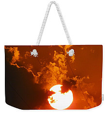 Sun On Fire Weekender Tote Bag