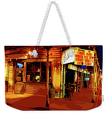 Sun On The Beach At Night Weekender Tote Bag
