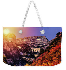 Sun On The Mountain Weekender Tote Bag