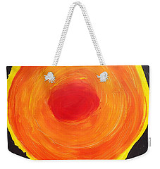 Weekender Tote Bag featuring the painting Sun One   by Don Koester