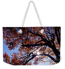 Sun Peaking Threw Weekender Tote Bag