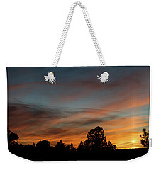 Sun Pillar Sunset Weekender Tote Bag