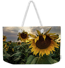 Weekender Tote Bag featuring the photograph Sun Rays  by Aaron J Groen