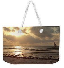 Sun Rays On The Water With Wooden Dhow Weekender Tote Bag