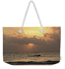Sun Rays On The Water With Wooden Dhows Weekender Tote Bag