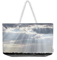 Sun Rays Over Lagoon Weekender Tote Bag