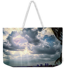 Sun Rays Over Miami Weekender Tote Bag
