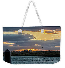 Sun Rays Over The Intracoastal  Weekender Tote Bag by Nance Larson