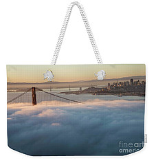 Weekender Tote Bag featuring the photograph Sun Rise At Golden Gate Bridge by David Bearden