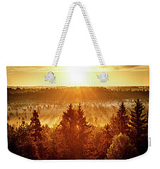 Sun Rising At Swamp Weekender Tote Bag by Teemu Tretjakov