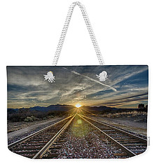 Sun Sets At The End Of The Line Weekender Tote Bag