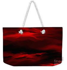 Sun Sets In Red Weekender Tote Bag by Rushan Ruzaick