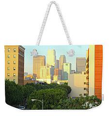 Sun Sets On Downtown Los Angeles Buildings #1 Weekender Tote Bag