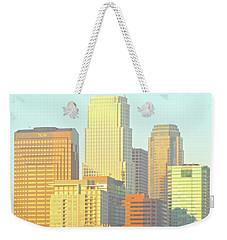 Sun Sets On Downtown Los Angeles Buildings #2 Weekender Tote Bag