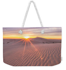 Weekender Tote Bag featuring the photograph Sun Setting At The Dunes by Patricia Davidson