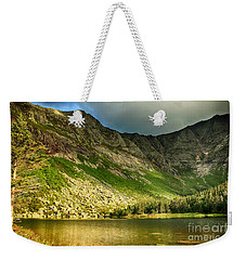 Sun Shining On Chimney Pond  Weekender Tote Bag