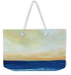 Sun Swept Coast- Abstract Seascape Weekender Tote Bag