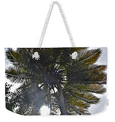 Weekender Tote Bag featuring the photograph Sun Through The Palm by Gary Smith
