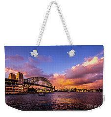 Weekender Tote Bag featuring the photograph Sun Up by Perry Webster