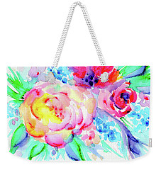 Sun Washed Pink Weekender Tote Bag by Nada Meeks