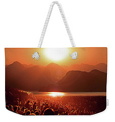 Weekender Tote Bag featuring the photograph Sun Worshipers by Christopher McKenzie