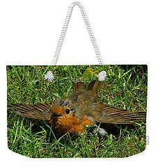 Sunbathing Robin Weekender Tote Bag