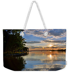 Weekender Tote Bag featuring the photograph Sunburst At Sundown by Lisa Wooten