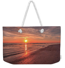Weekender Tote Bag featuring the photograph Sunburst At Sunset by Doug Camara