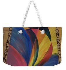 Sunburst Floorcloth Weekender Tote Bag by Judith Espinoza