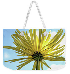 Weekender Tote Bag featuring the photograph Sunburst by Judy Vincent