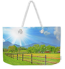 Sunburst Over Peaks Of Otter, Virginia Weekender Tote Bag
