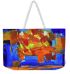 Weekender Tote Bag featuring the painting Sunburst by Walter Fahmy