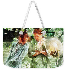 Sunday Afternoon By The Lake Weekender Tote Bag by Shirley Stalter