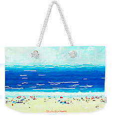 Weekender Tote Bag featuring the painting Sunday At Bondi by Chris Armytage