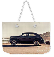 Weekender Tote Bag featuring the photograph Sunday Drive To The Beach by Edward Fielding