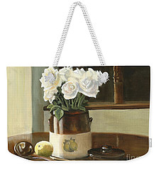 Sunday Morning And Roses - Study Weekender Tote Bag by Marlene Book