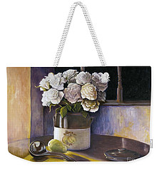 Sunday Morning And Roses Redux Weekender Tote Bag by Marlene Book