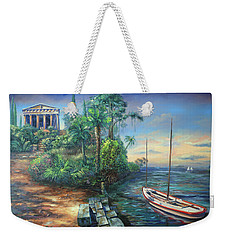 Sunday Morning Greco Floridian Twist Weekender Tote Bag