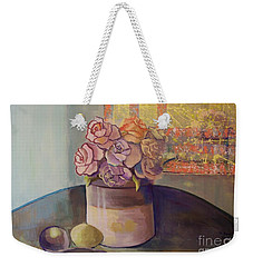 Sunday Morning Roses Through The Looking Glass Weekender Tote Bag