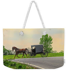 Sunday Ride At Sunset On Ronks Road Weekender Tote Bag