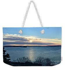 Sunday Sunrise On Casco Bay Weekender Tote Bag