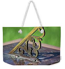 Sundial In The Garden Weekender Tote Bag