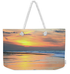 Weekender Tote Bag featuring the photograph Sundown At Race Point Beach by Roupen  Baker