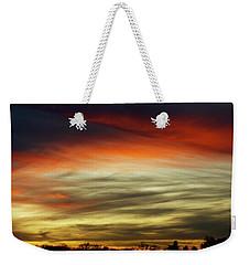 Sundown Sky  Weekender Tote Bag by Carol F Austin