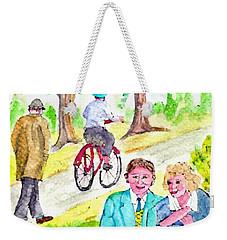 Sunday Morning In Prospect Park Weekender Tote Bag