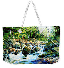 Weekender Tote Bag featuring the painting Sunfish Creek by Hanne Lore Koehler